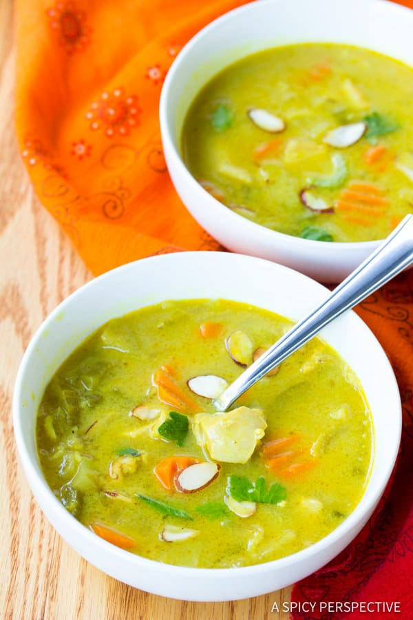 Best Healthy Mulligatawny Soup | ASpicyPerspective.com #LowCarb #GlutenFree