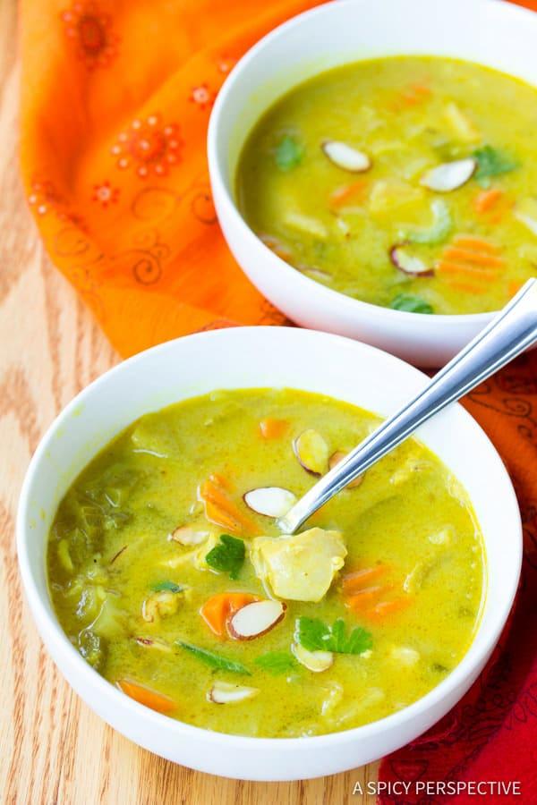 Best Healthy Mulligatawny Soup | ASpicyPerspective.com #LowCarb #GlutenFree