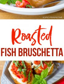 Fresh Healthy Roasted Fish Bruschetta Recipe