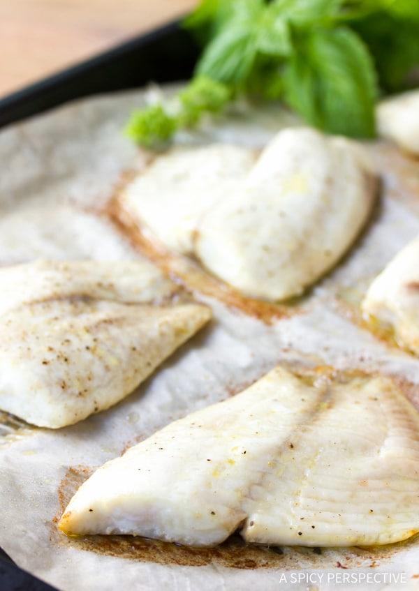 Making Roasted Fish Bruschetta Recipe