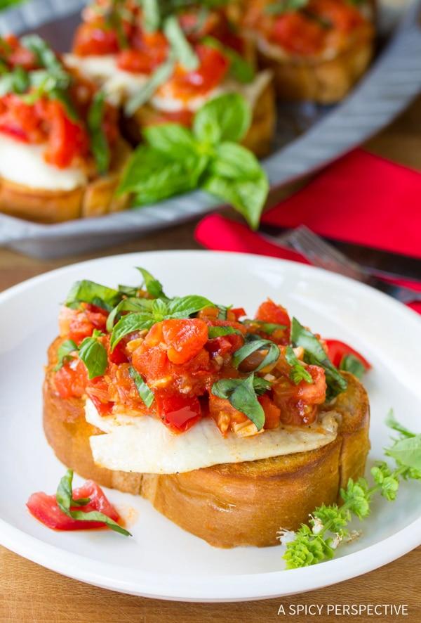 Perfection! Roasted Fish Bruschetta Recipe
