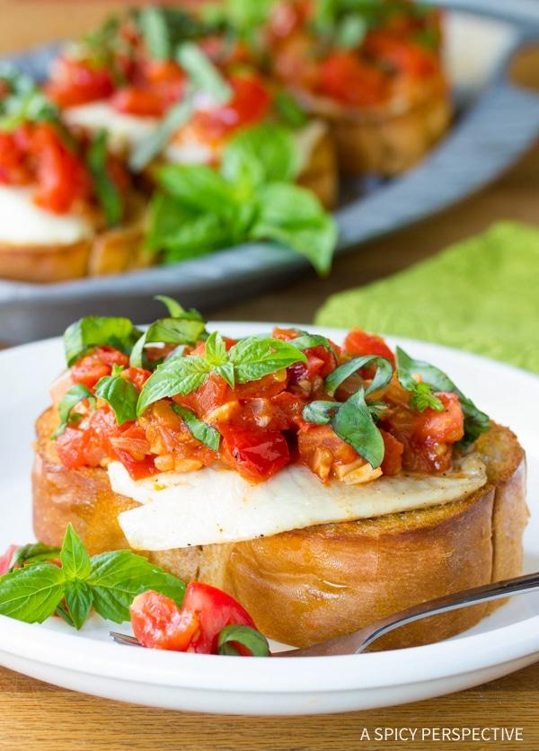 Healthy Roasted Fish Bruschetta Recipe