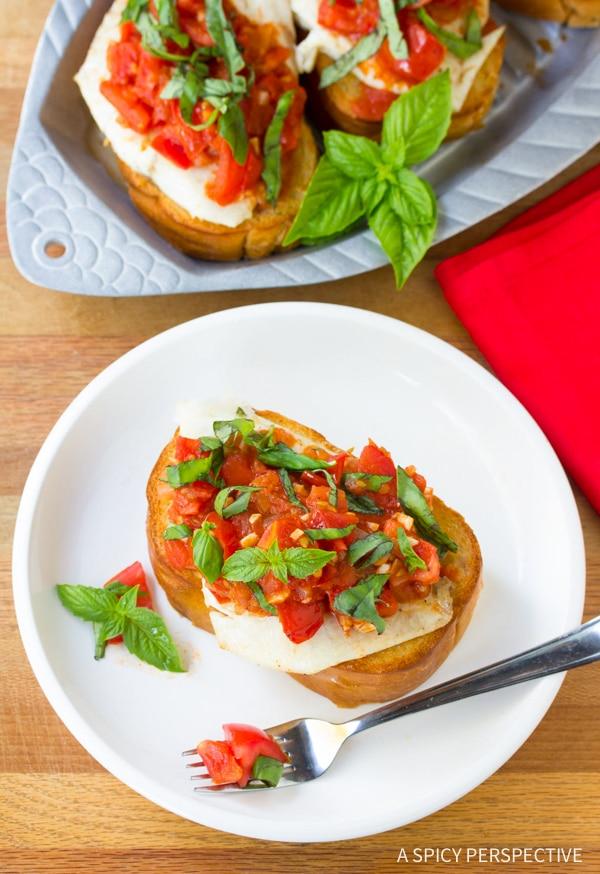 Crispy Roasted Fish Bruschetta Recipe