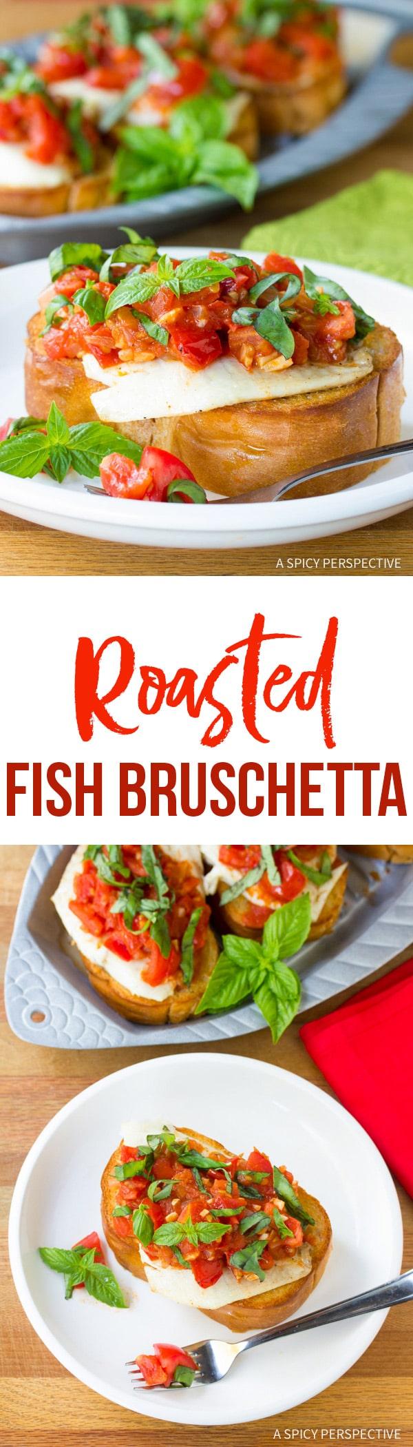 Fresh Healthy Roasted Fish Bruschetta Recipe