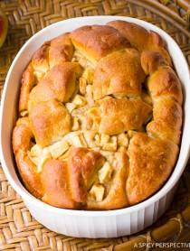 Moist Yeasty Apple Challah Bread Recipe on ASpicyPerspective.com