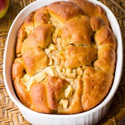 Moist Yeasty Apple Challah Bread Recipe on ASpicyPerspective.com