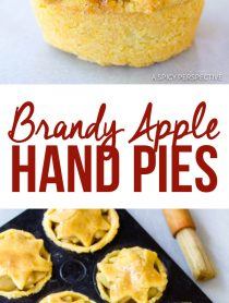 Brandy Apple Hand Pies with Cornmeal Crust | ASpicyPerspective.com