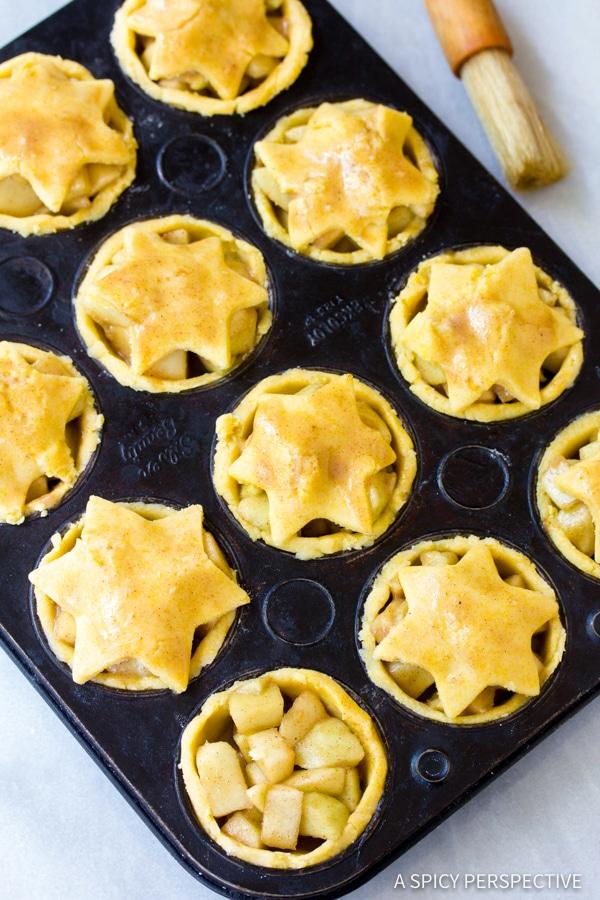 Easy Brandy Apple Hand Pies with Cornmeal Crust | ASpicyPerspective.com