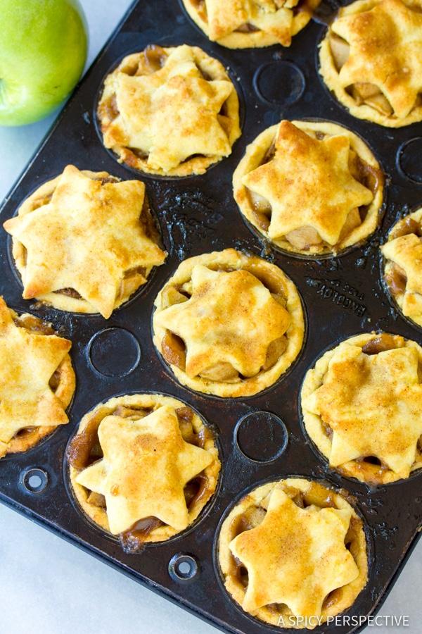 Best Brandy Apple Hand Pies with Cornmeal Crust | ASpicyPerspective.com