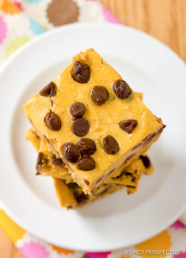 Best Chocolate Chip Pumpkin Bars | ASpicyPerspective.com #halloween