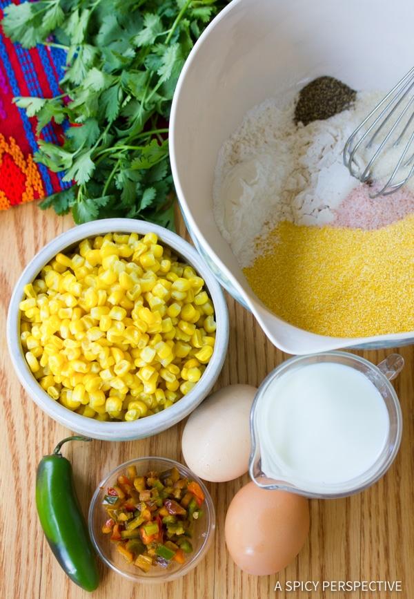 Easy Jalapeno Corn Cakes with Avocado Salsa | ASpicyPerspective.com