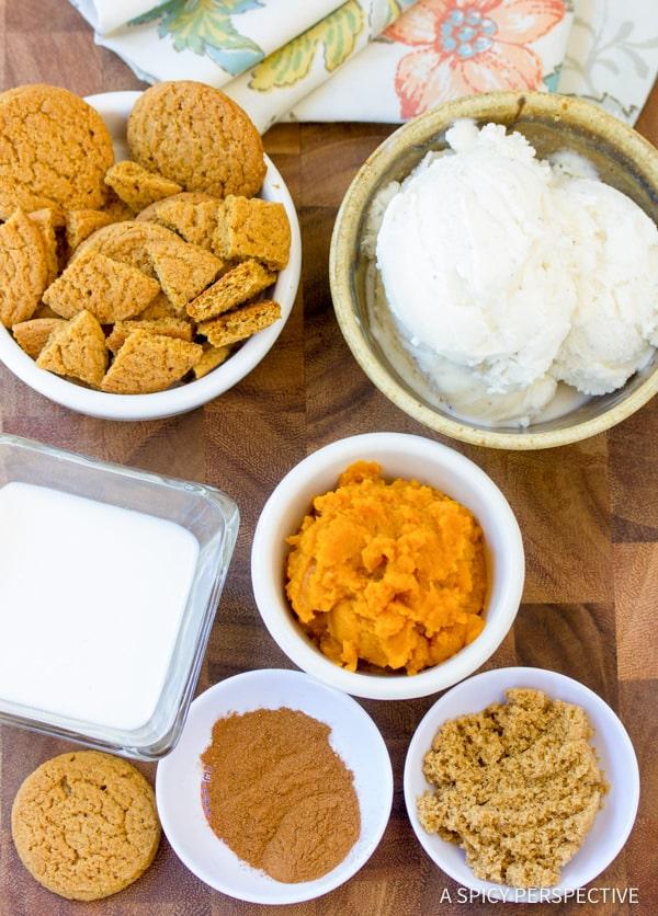 Making Pumpkin Pie Milkshakes | ASpicyPerspective.com #halloween