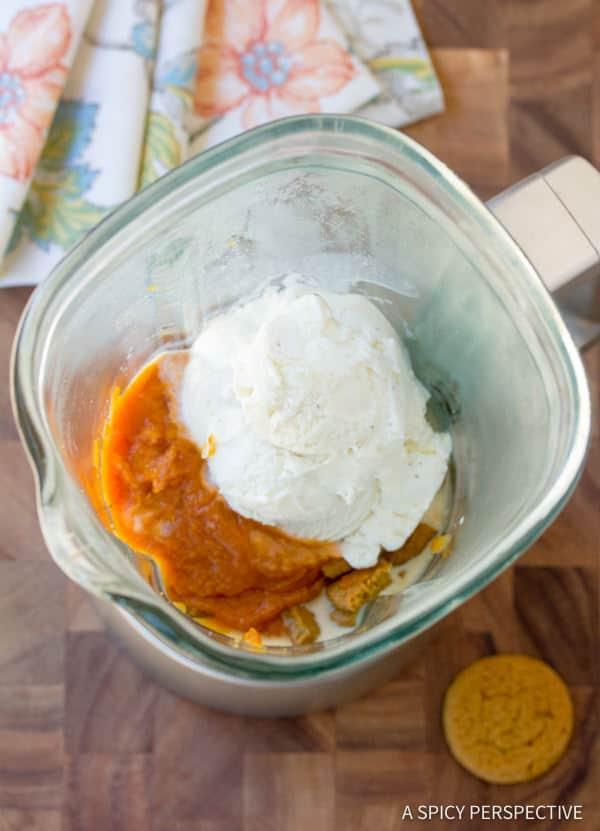 Simple Pumpkin Pie Milkshake | ASpicyPerspective.com #halloween
