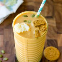 The Best Pumpkin Pie Milkshake | ASpicyPerspective.com #halloween