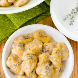 Perfect Butternut Squash Gnocchi with Whiskey Cream Sauce | ASpicyPerspective.com