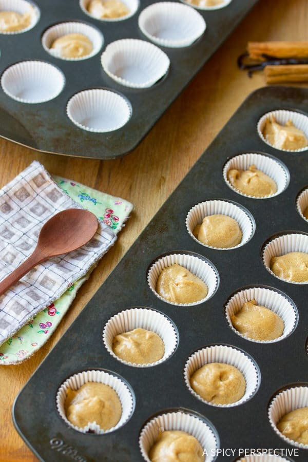 Making Spiced Chai Latte Cupcakes on ASpicyPerspective.com. #christmas #holidays #chai