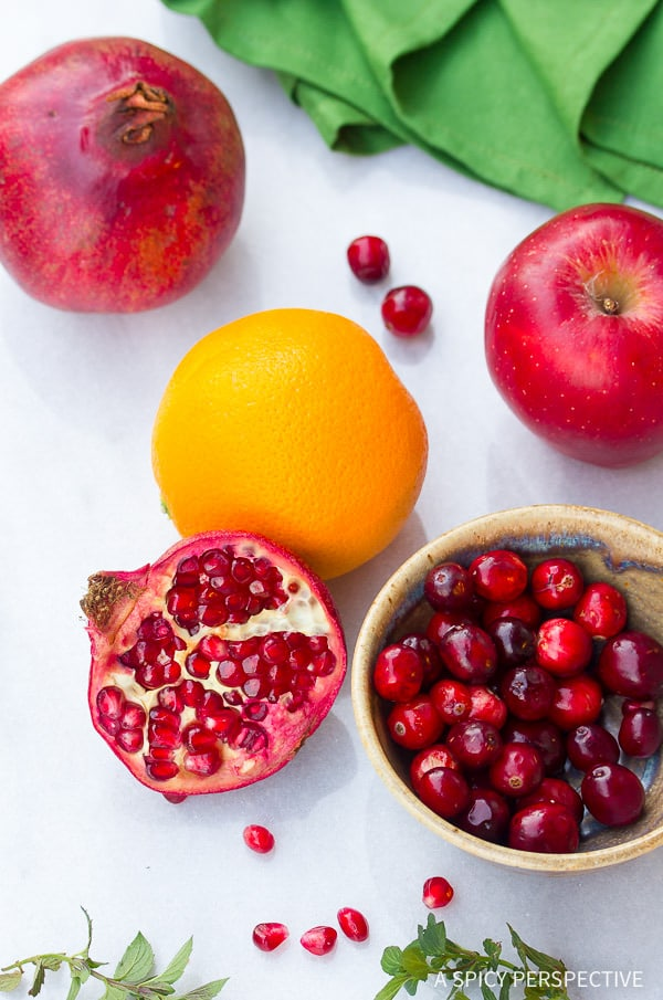 Thanksgiving Favorite - Pomegranate Apple Cranberry Relish on ASpicyPerspective.com