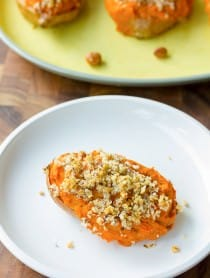 Twice Baked Sweet Potatoes with Bourbon and Hazelnuts on ASpicyPerspective.com