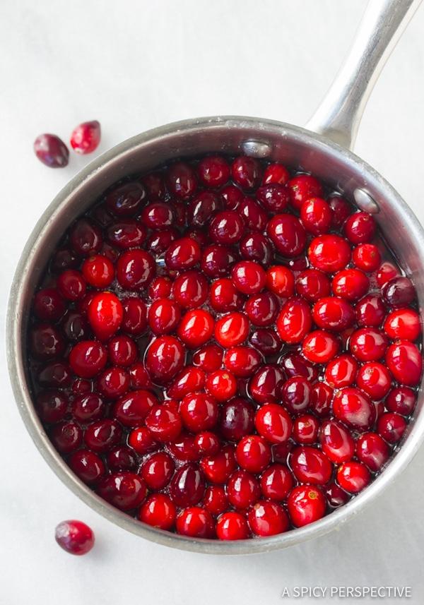 Making Vanilla Orange Candied Cranberries