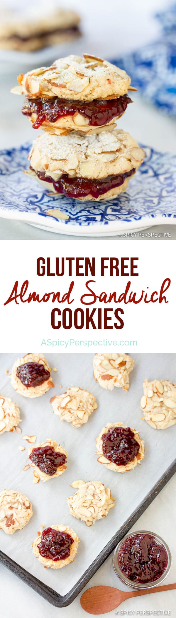 Amazing Gluten Free Almond Sandwich Cookies #christmas #holiday