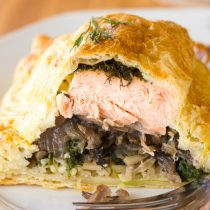 Coulibiac of Salmon Recipe | ASpicyPerspective.com #holiday