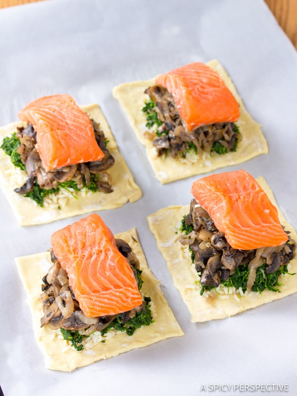 Dazzling Coulibiac of Salmon Recipe | ASpicyPerspective.com #holiday