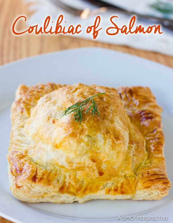 Perfect Coulibiac of Salmon Recipe | ASpicyPerspective.com #holiday