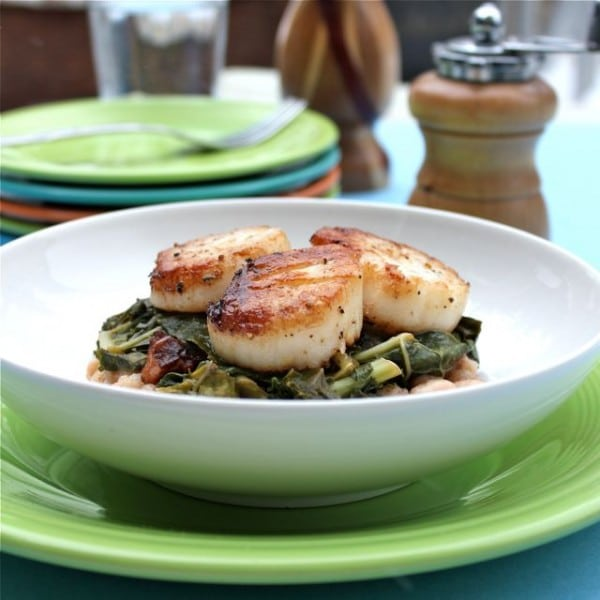 Seared Scallops With Wilted Greens Recipes — Dishmaps
