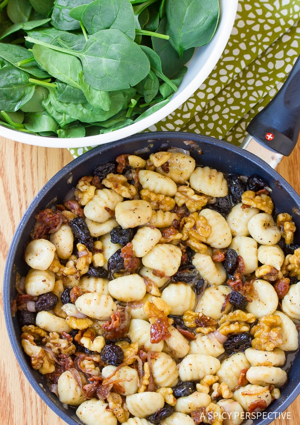 Dazzling Gnocchi and Wilted Spinach Salad Recipe