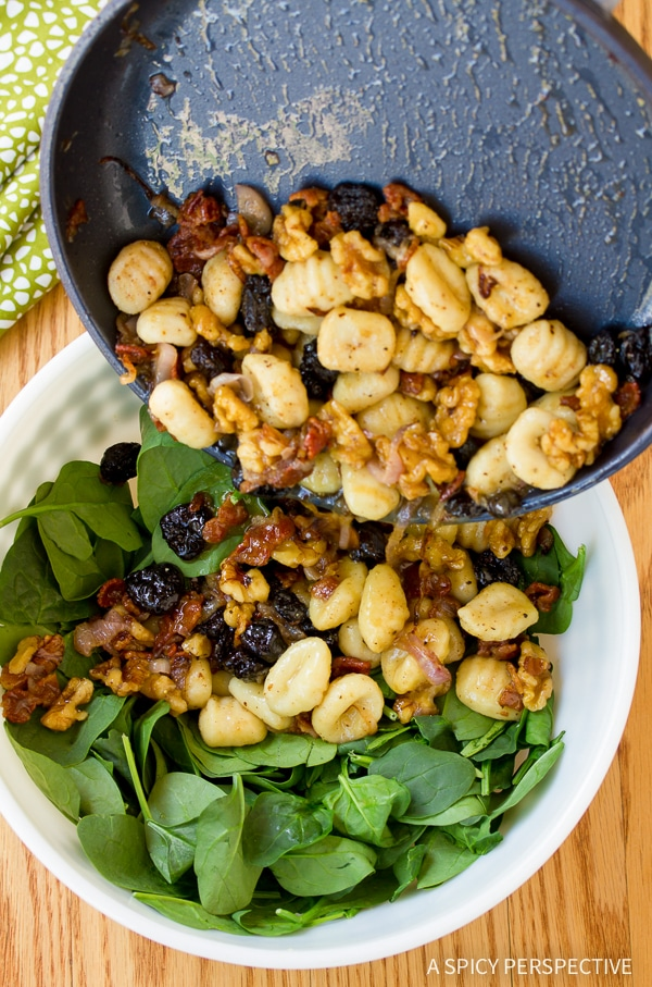 The Best Gnocchi and Wilted Spinach Salad Recipe