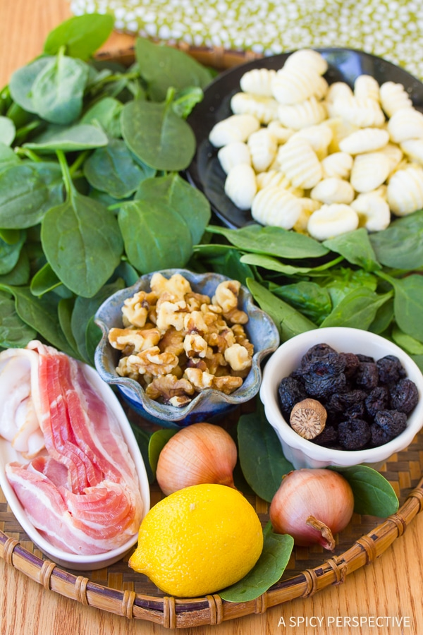 Making Gnocchi and Wilted Spinach Salad Recipe