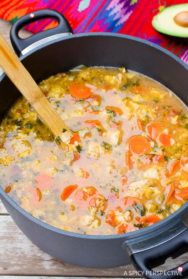 How to Make The Best Chicken Tortilla Soup Recipe on ASpicyPerspective.com