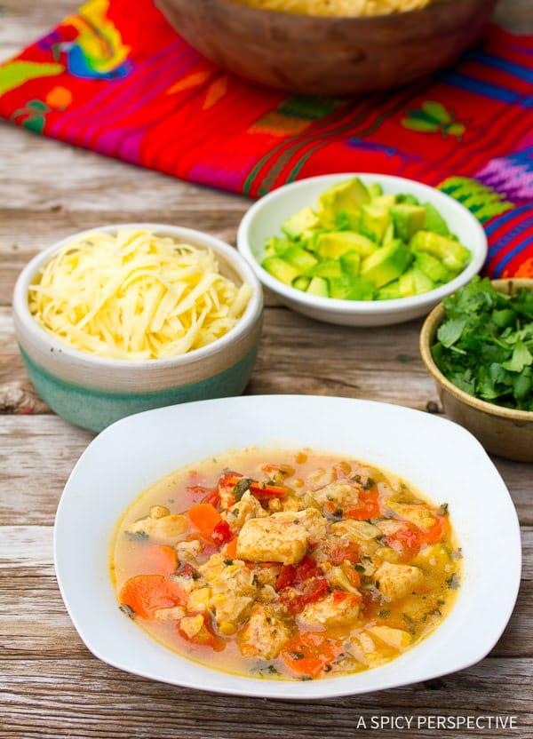 Best Chicken Tortilla Soup Recipe on ASpicyPerspective.com