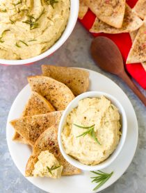 Crispy Rosemary Hummus Recipe #healthy