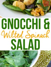 Heavenly Gnocchi and Wilted Spinach Salad Recipe