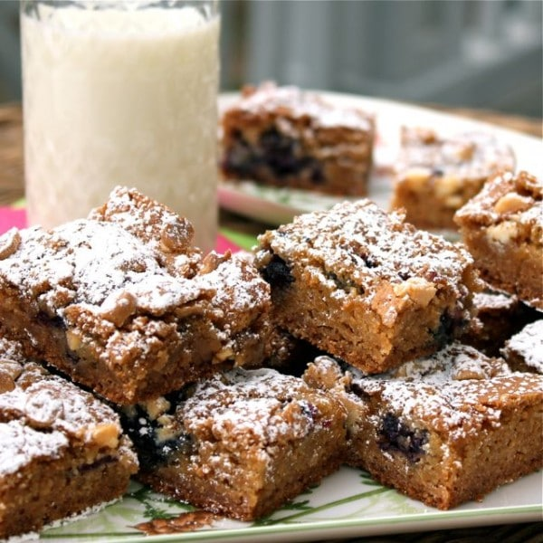 Blueberry White Chocolate Blondies - A Spicy Perspective