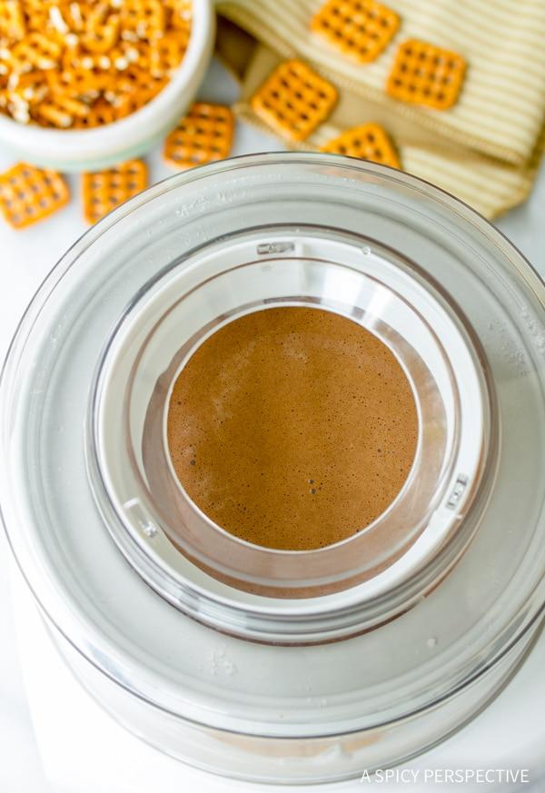 How To Make Chocolate Pretzel Frozen Custard Recipe #icecream #summer