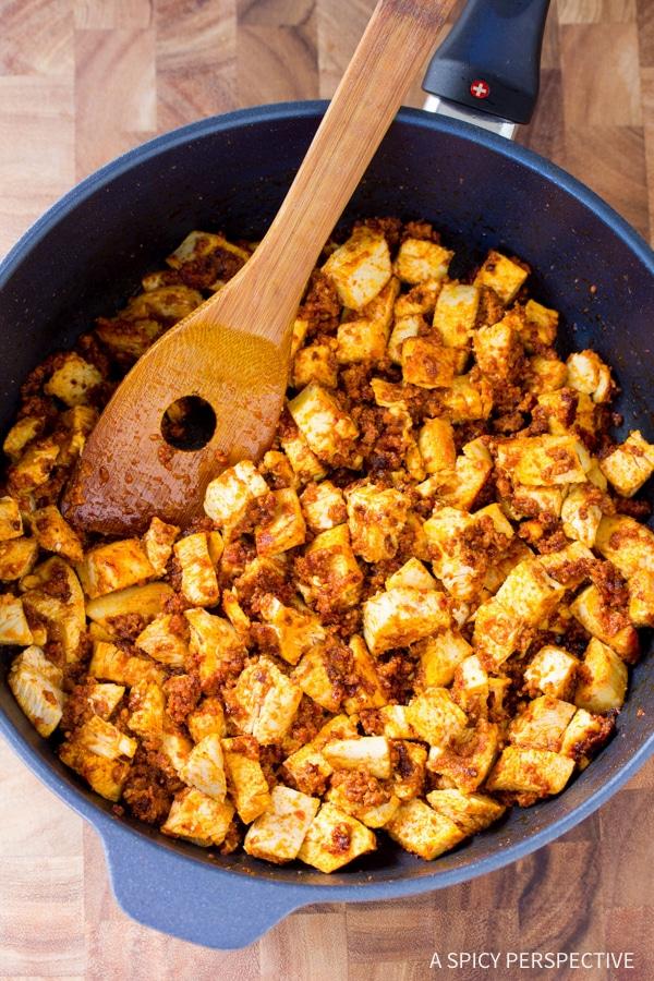 """How to Make: Low Carb Chicken Chorizo """"No Potato"""" Hash #healthy #paleo"""
