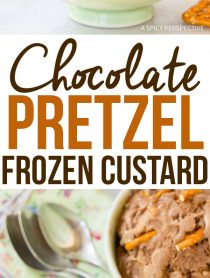 Salty-Sweet Chocolate Pretzel Frozen Custard Recipe #icecream #summer