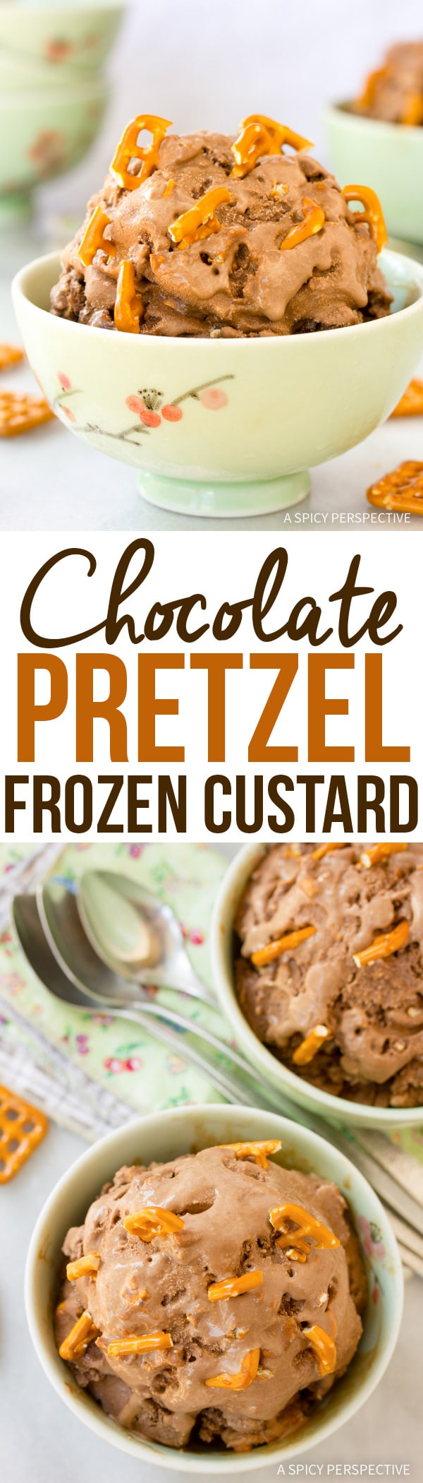 Salty-Sweet Chocolate Pretzel Frozen Custard Recipe #icecream #summer