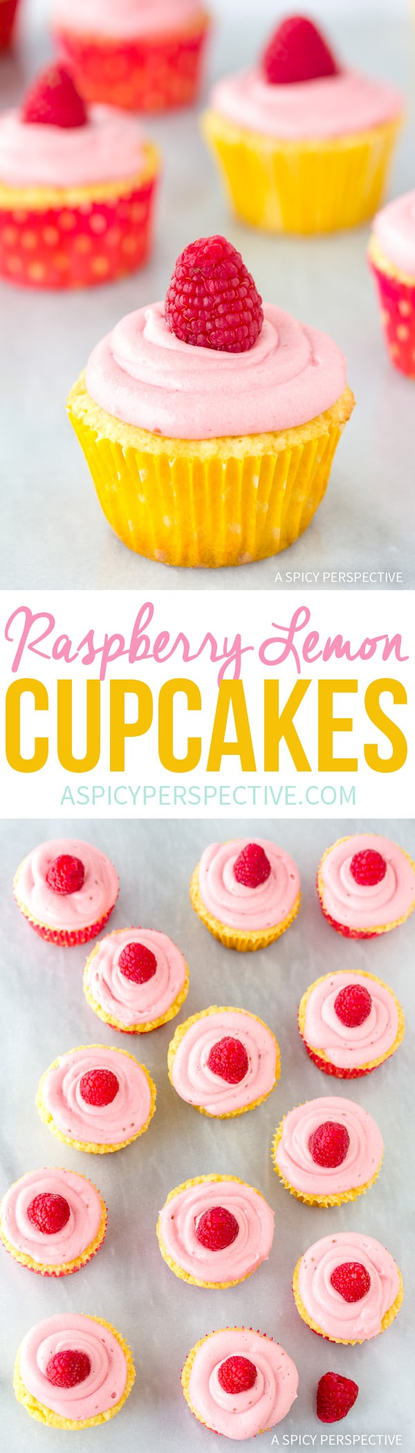 Soft Tangy Lemon Raspberry Cupcakes Recipe