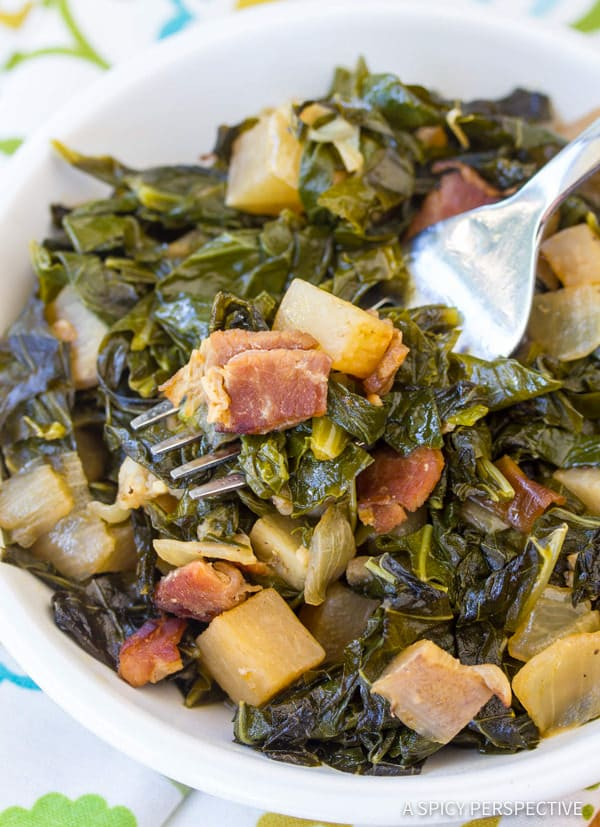 Easy to Make Perfect Southern Collard Greens | ASpicyPerspective.com