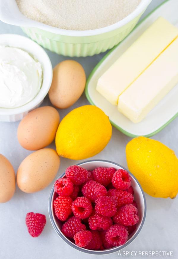 Making Lemon Raspberry Cupcakes Recipe