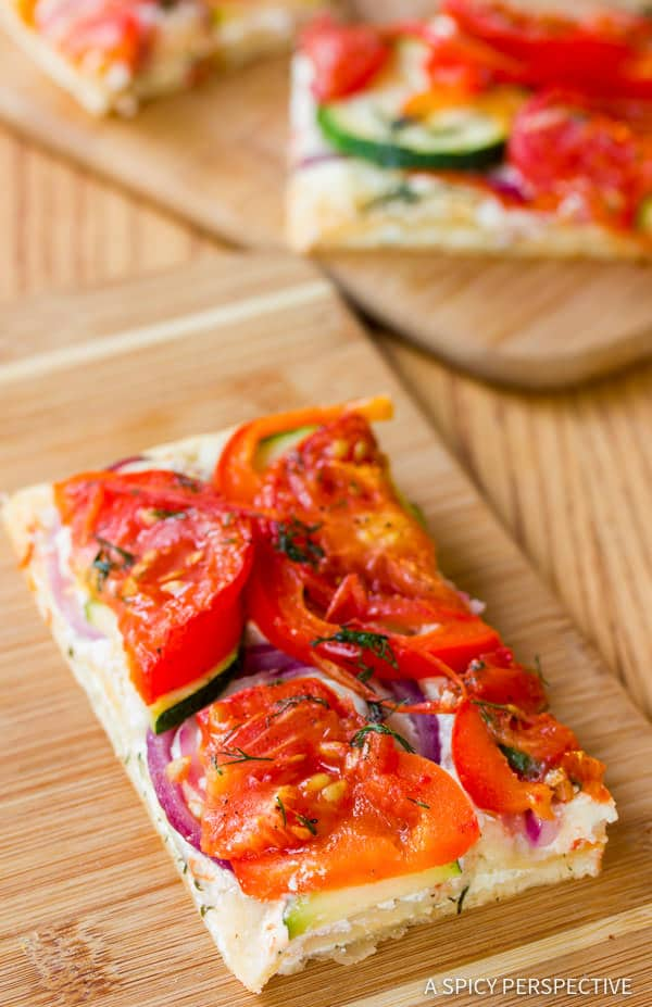 Best Roasted Vegetable Flatbread | ASpicyPerspective.com