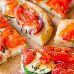 Roasted Vegetable Flatbread | ASpicyPerspective.com