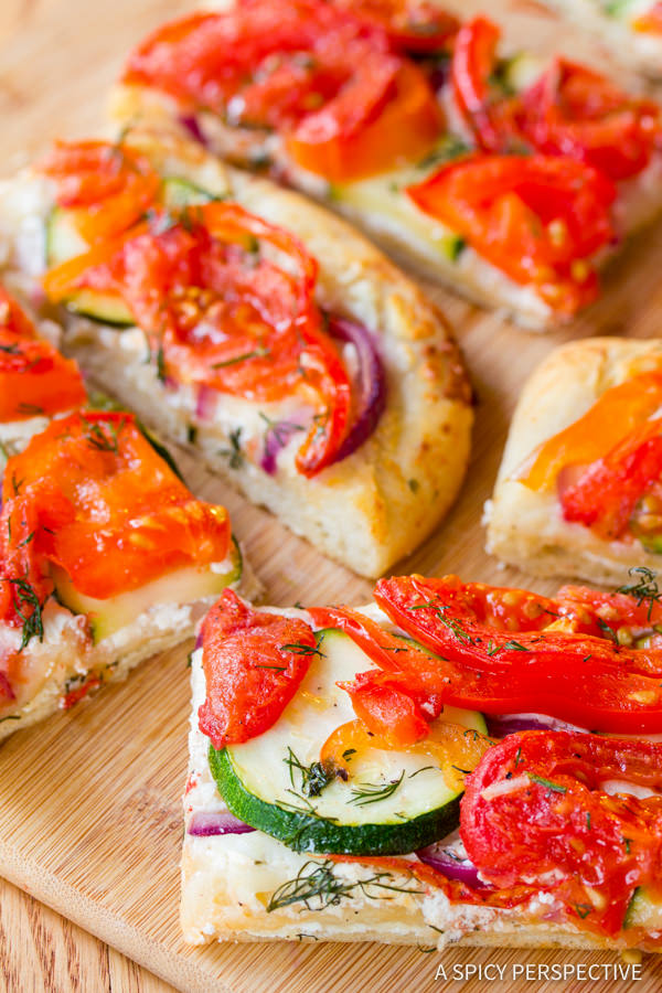 Roasted Vegetable Flatbread {A Spicy Perspective}
