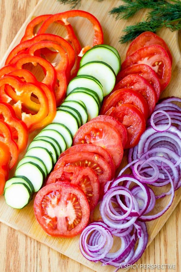 Perfect Roasted Vegetable Flatbread   ASpicyPerspective.com