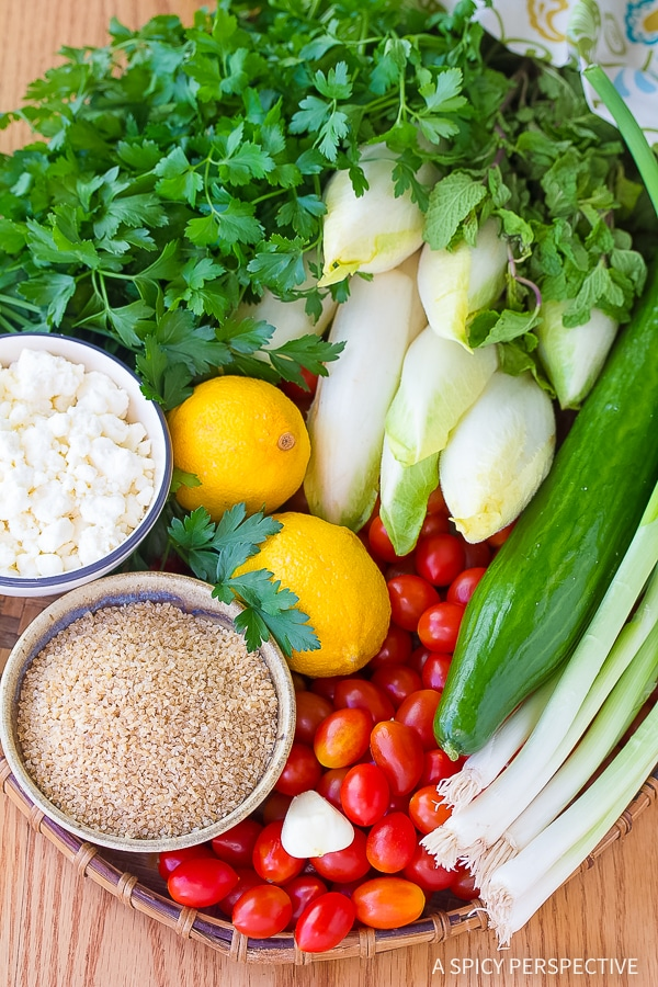How to Make Tabouli (Tabbouleh) with Feta and Endive Recipe