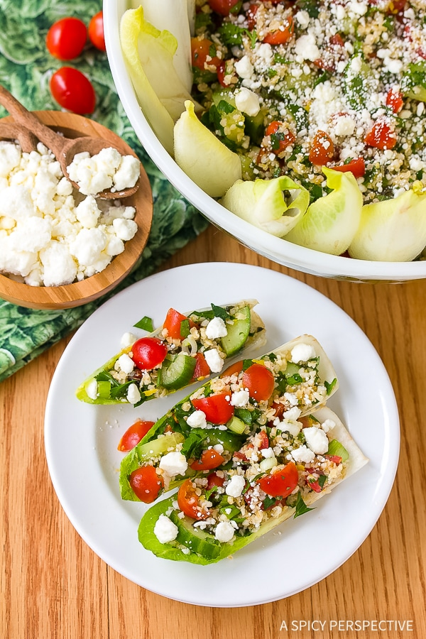 Zesty Tabouli (Tabbouleh) with Feta and Endive Recipe
