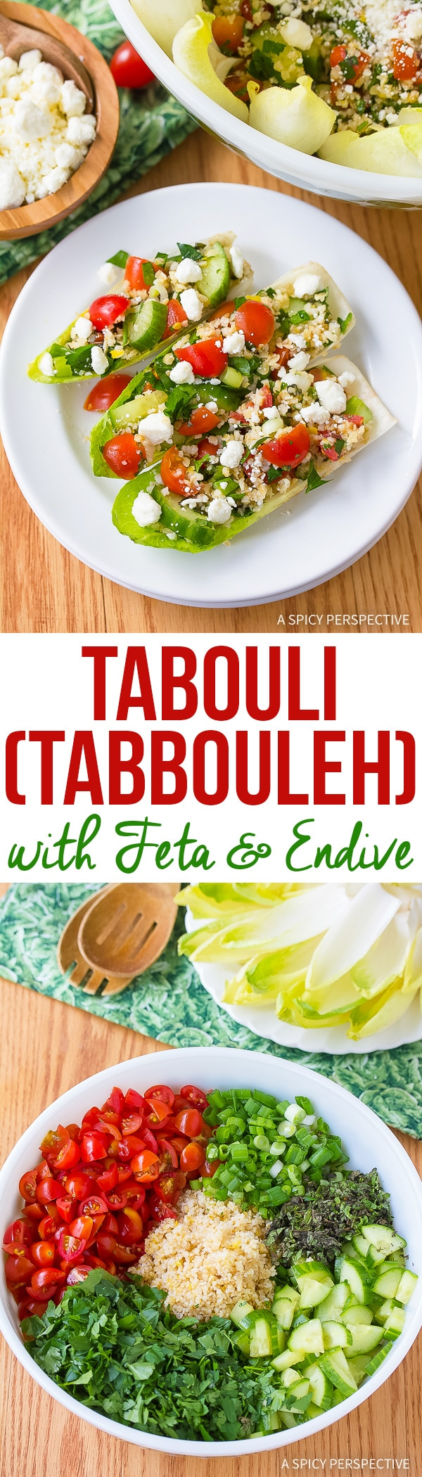 Perky Tabouli (Tabbouleh) with Feta and Endive Recipe